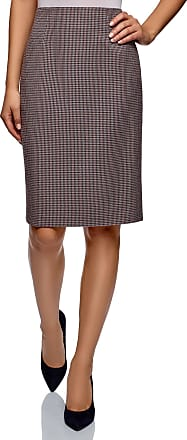oodji Collection Womens Basic Pencil Skirt, Grey, UK 10 / EU 40 / M