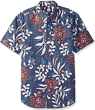 f3cc8cbe Reyn Spooner Mens Perennial Pareau Weekend Wash Tailored Fit Hawaiian Shirt,  Ink, XXL