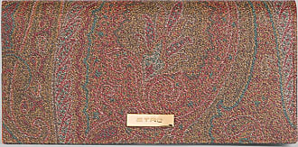 Etro Paisley Wallet With Colour Block Details, Woman, Brown