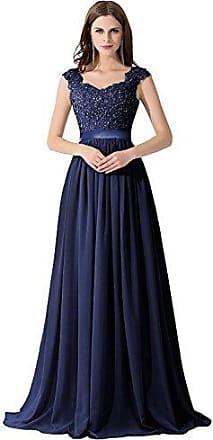 7e14d414294130 MisShow Hochwertig Damen langes Abendkleid Partykleider CocktailKleid  Spitzenkleid bodenlang V-Ausschnitte Gr.44