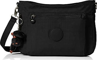 Kipling Loretta Bag, Adjustable Crossbody Strap, Zipper Closure, Black