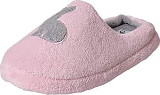True Face Ladies Womens Slippers Soft Comfy Fur Mules Shoes (Medium (UK 5-6), Bunny-Pink)