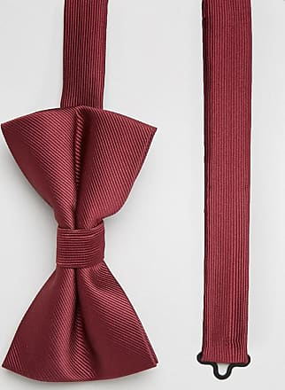 Asos bow tie in burgundy-Red