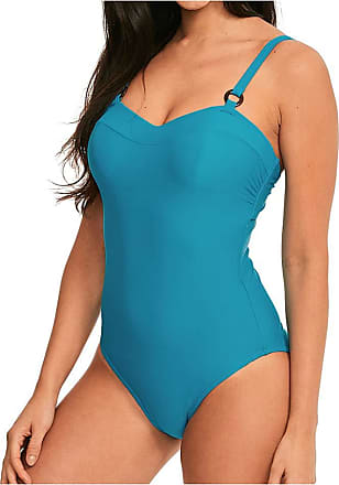 Figleaves Womens Portimao Underwired Swimsuit Size 34DD in Jade