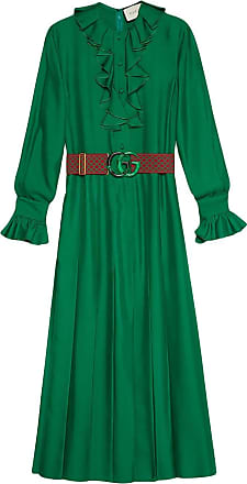 d8fcbaf7cb3 Gucci Silk dress with Double G belt - Green