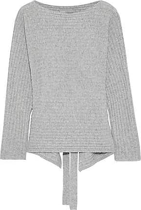 f73a3de7742 Vince Vince. Woman Cutout Ribbed Wool And Cashmere-blend Sweater Gray Size  XS
