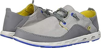 Columbia PFG Mens Bahama Vent Relaxed PFG Boat Shoe, Steam, Electron Yellow, 12