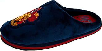 Harry Potter Mens Slippers Novelty Gryffindor Mules Blue/Red UK 11
