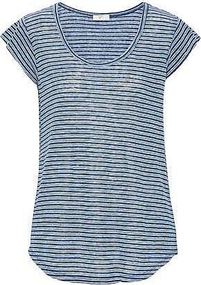 a1aed509c1 Joie Joie Woman Neyo Striped Linen-jersey T-shirt Blue Size XXS