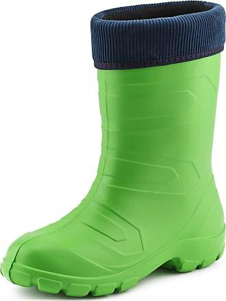 Ladeheid Womens EVA Thermo Extra Light Wellington Boots Rainy Wellies Rain Boots LALMG879 (Green375c/Navy, 4.5 UK)