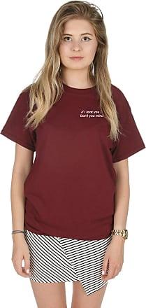Sanfran Clothing Sanfran - I Love You Dont You Mind Cute Pocket 1975 T-Shirt - Large/Maroon