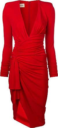 Alexandre Vauthier Vestido decote profundo - Vermelho