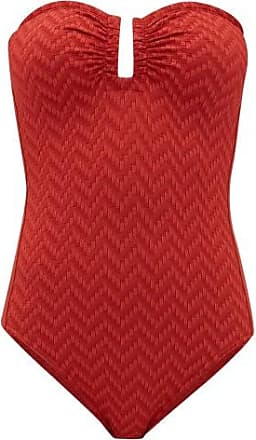 Eres Cassiopée U-ring Strapless Zigzag-knitted Swimsuit - Womens - Red