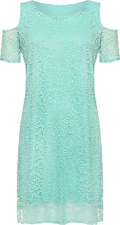 Top Fashion18 Top Fashion Womens Plus Size Floral Lace Lined Off Shoulder Cut Out Evening Dress UK Size 14-28