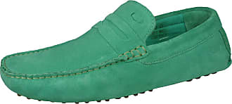Base London Morgan Mens Slip On Suede Driving Loafers/Shoes-Green-5