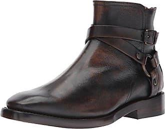 Frye Mens Weston Cross Strap Harness Boot, 85038-Cognac, 8 D US