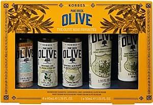 Korres Body care Gift set Nourishing Shampoo 40 ml + Shower Gel Lime 40 ml + Showergel Olive Blossom 40 ml + Body Cream Olive Blossom 40 ml + Hand Cream Oliv