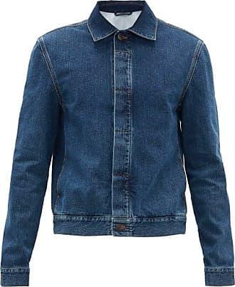 The Row Jaden Concealed-placket Cotton-denim Jacket - Mens - Blue