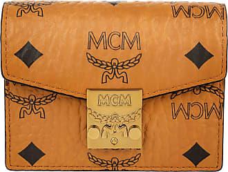 8b108f3c13a6e MCM Patricia Visetos Acordian Card Wallet Mini Cognac Portemonnaie cognac
