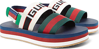 Gucci Webbing-trimmed Rubber Sandals - Multi