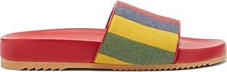 Gucci Baiadera Striped Linen-canvas Slides - Mens - Multi