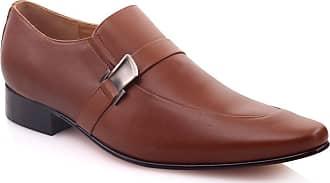 Unze Unze Mens Endson Leather Office Oxfords (Brown) (8 UK)