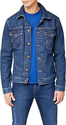 Wrangler Mens Regular Denim Jacket, Blue (Darkstone 090), XX-Large