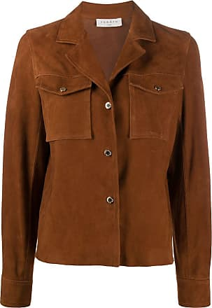 Sandro suede boxy fit jacket - Brown