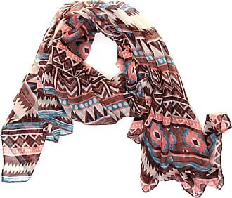 Hawkins Lightweight Aztec Print Scarf Shawl Wrap - Brown
