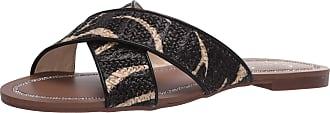 Jessica Simpson Womens Elaney2 Flat Sandal, Natural/Black Zebra, 6.5 UK