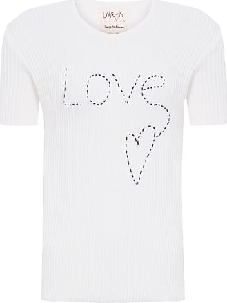TWENTY FOUR SEVEN Blusa Mc Love Bordado Love Is - Off White