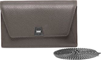 MQaccessories Envelope in Cervo Structured Nappa Leather with Graphite Colored Hardware
