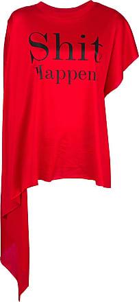 Christopher Kane Camiseta Shit Happens - Vermelho