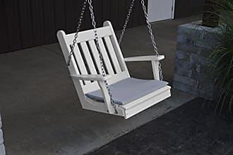 A & L Furniture A & L Furniture Poly Traditional English Chair Swing, White