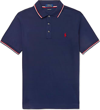 11a844ea Polo Ralph Lauren Slim-fit Contrast-tipped Cotton-jersey Polo Shirt - Navy
