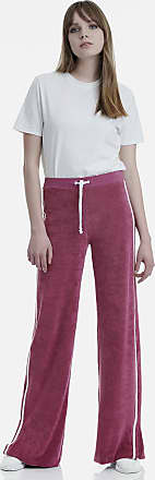 Sugarfree Berry terry pants with stripes
