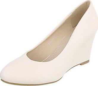 Cingant Damen Pumps Keilabsatz Damenschuhe Elegante Schuhe Beige, EU 41 e5ac384fb4