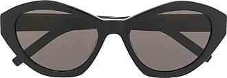 Saint Laurent Eyewear Óculos de sol com lentes coloridas - Preto