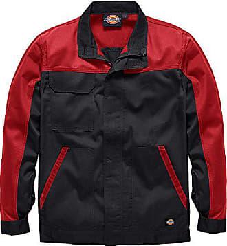 Dickies ED24 7JK, Veste de Travail Homme, Rouge (Noir Rouge) 53420b82391e