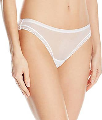 OnGossamer Womens Intimate Apparel Next to Nothing Mesh Low-Rise Bikini Panty, White, Small
