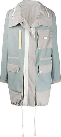 Yves Salomon - Army colour block utility rain coat - Blue