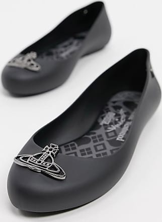 Vivienne Westwood orb flat shoes in black