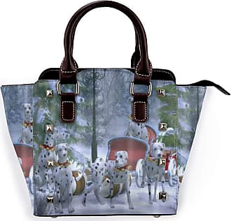 Browncin Dalmatians Christmas Sleigh Detachable Fashion Trend Ladies Handbag Shoulder Bag Messenger Bags
