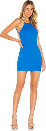 Superdown Selena Bodycon Dress in Blue