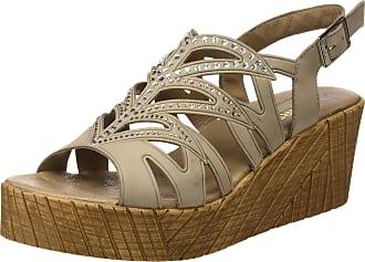 24 Horas Womens 24121 Platform Sandals, Beige (Cana 10), 7 UK