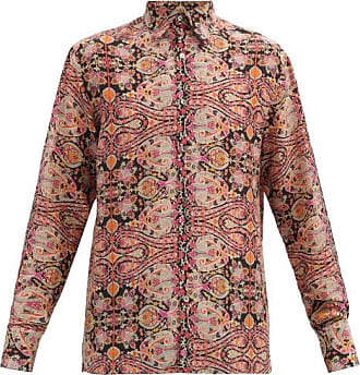 73 London Paisley-print Silk-crepe De Chine Shirt - Mens - Multi