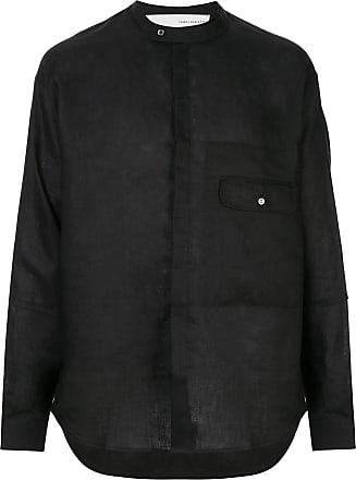 Isabel Benenato Camisa com bolso - Preto
