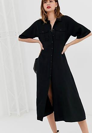 Whistles Maria pocket longline dress-Black