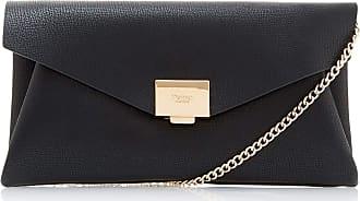 Dune London Dune ENVELA Envelope Clutch Bag One Size Black Clutch Bag