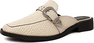 Damannu Shoes Mule Craquelê Kaya - Cor: Branco - Tamanho: 38